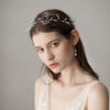 Ivory Beaded Handmade Bridal Headdress High-end Freshwater Pearl Bridal Hair Accessories O361