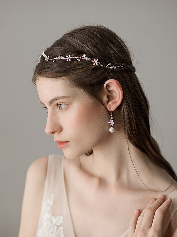 New Simple Snowflake Crystal Bridal Hairband Fresh Bridesmaid Accessories Wedding Accessories Direct Sale O363