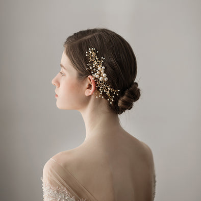 Beaded Bridal Headdress Forest series Pine branch flower Bridal hair comb Styling Hair Accessories Wedding Accessories O384