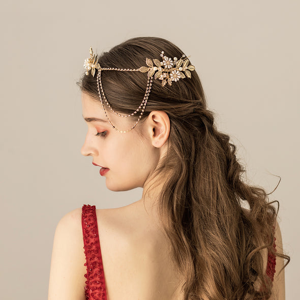 Bridal Headdress Chain bride hairband O532