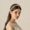 Crystal Bead Flower Bride Headbands Hair Comb Princess Wedding Bridal Hairbands Hair Accessories Tiaras