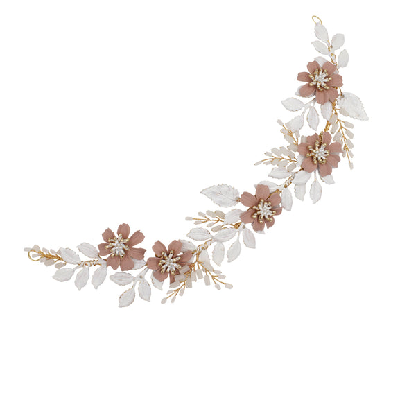 Dusty Pink Flower Wedding Accessories Hairband New 2020 O544