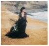 Black Wedding Dress With Lace Appliques