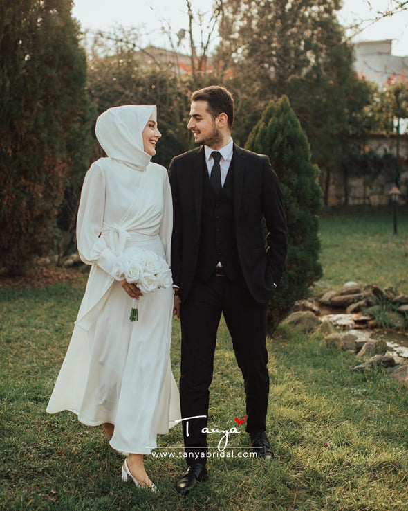 Simple Style Muslim Wedding Dress New Arrival DQG1114