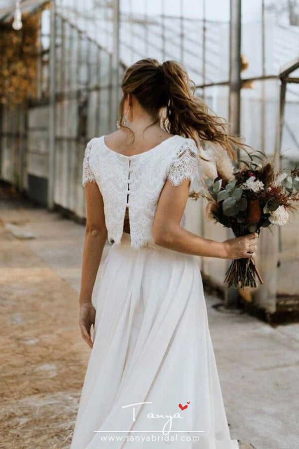 Bohemian Two Pieces Wedding Dresses