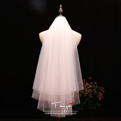 Wholesale Two Layers Tulle Wedding Bridal Veils 60cm-90cm With Cromb