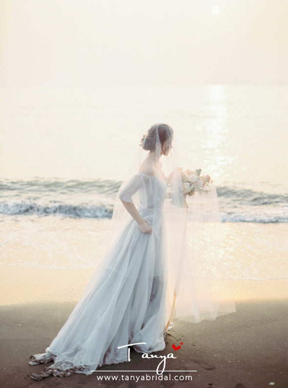 Bohemian Wedding Dress A Line Beach Style TBW36