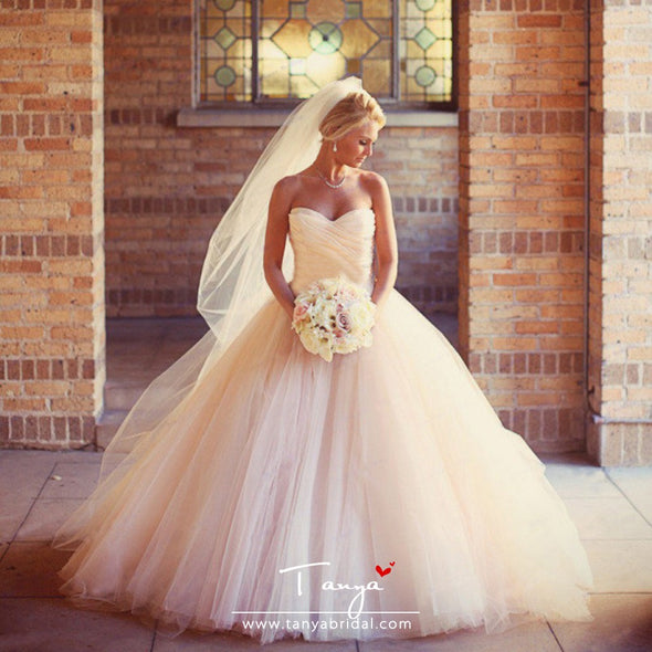 Pink Ball Gown Luxury Wedding Dresses