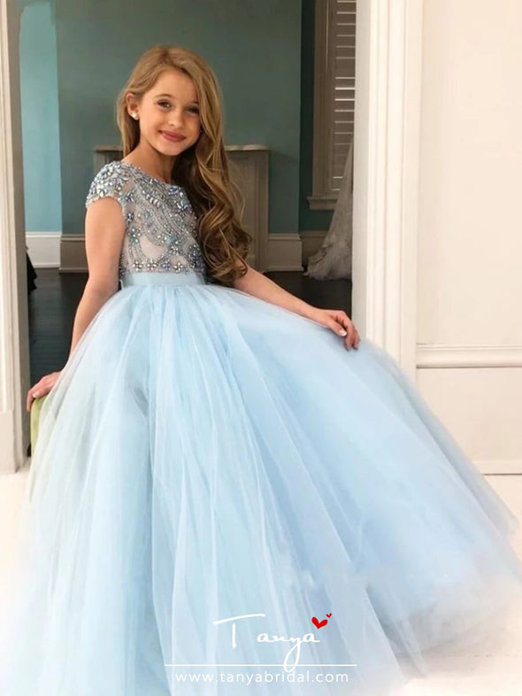 Light Blue Flower Girl Dresses For Weddings 2020