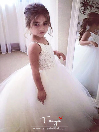 A-Line Floor Length Wedding / First Communion / Pageant Flower Girl Dresses
