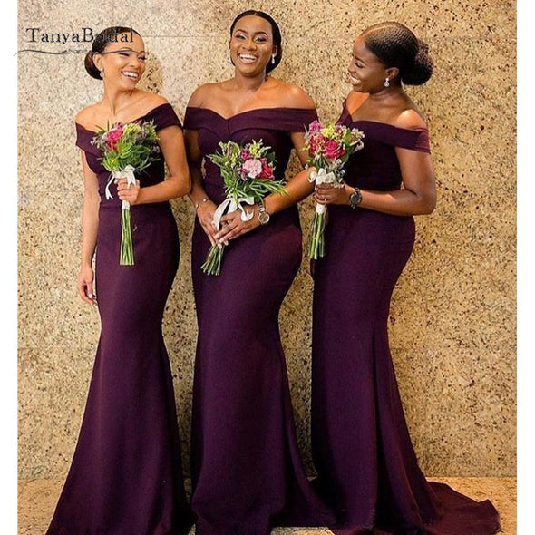 South African purple Bridesmaid Dresses