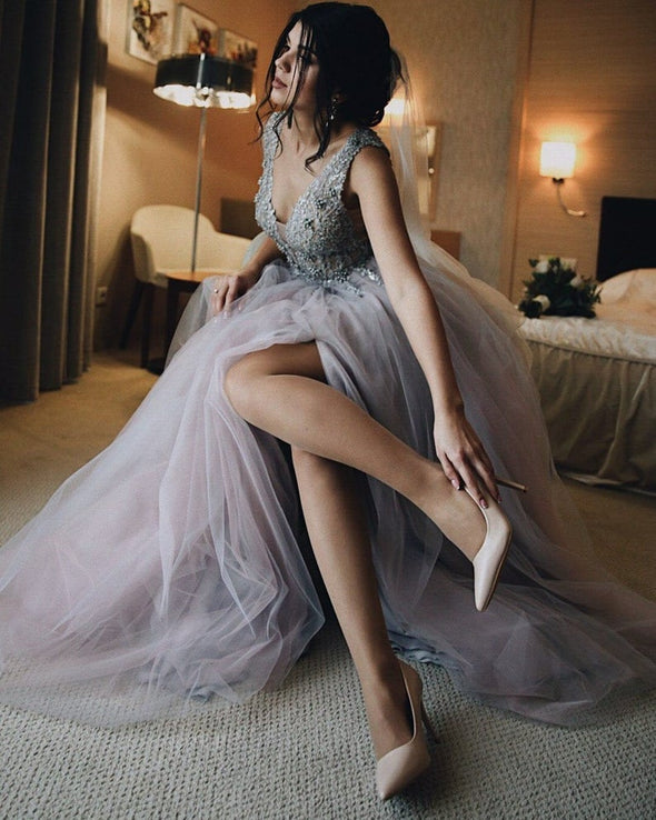 Prom Dress Long Homecoming Dress Wedding Guest Tulle Dress