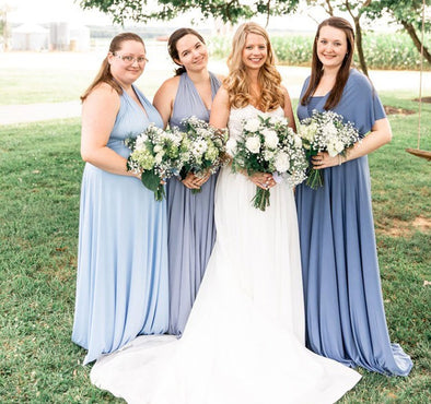 Dusty Blue Bridesmaid Dress infinity dress, periwinkle convertible Infinity Dress 03161517