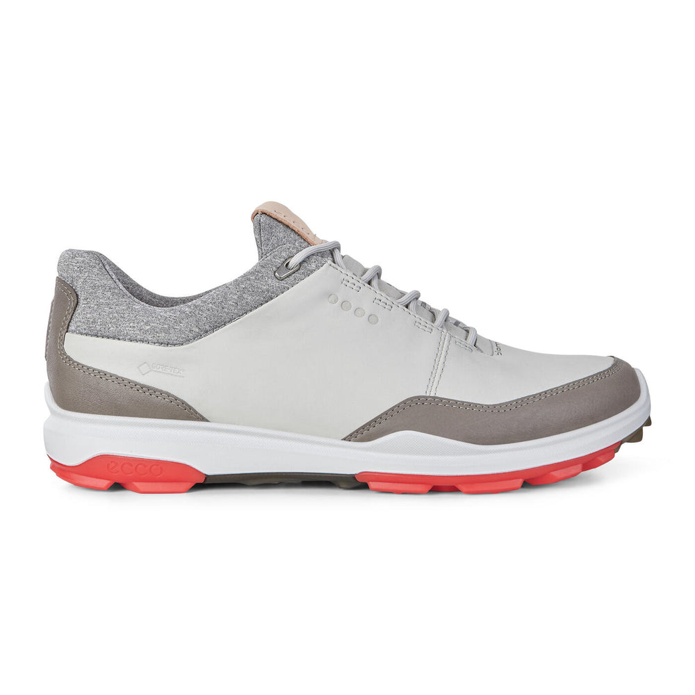 ECCO Men's BIOM Hybrid 3 GTX Golf Shoe ~ Concrete/Scarlet