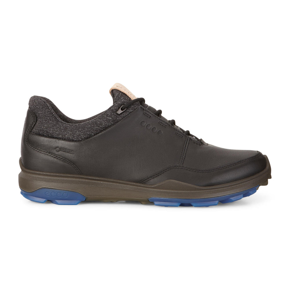 ECCO Men's BIOM Hybrid 3 GTX Golf Shoe ~ Black/Bermuda Blue