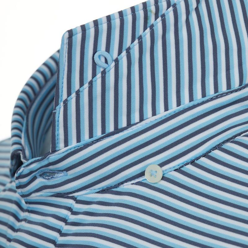 Stitch Florence Stripe Polo - Stitch Blue
