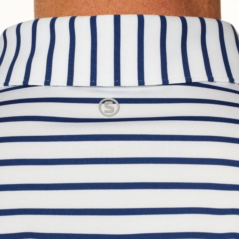 Stitch Sid Stripe Polo - Stitch Navy