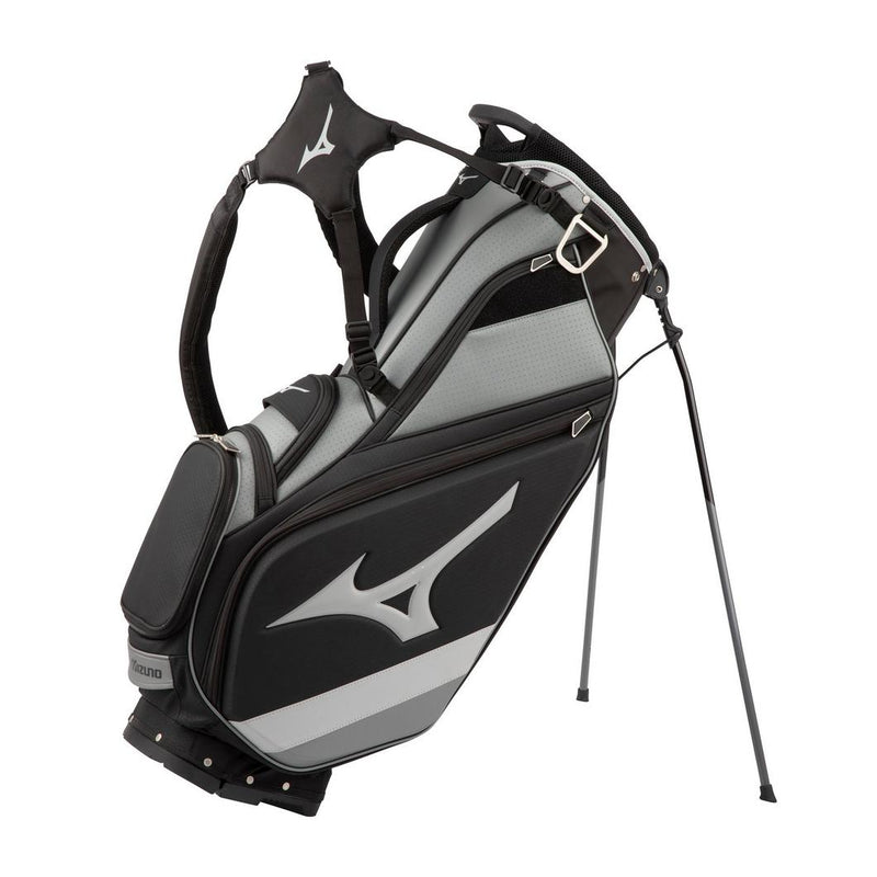 Mizuno Tour 6-Way Stand Bag - Black / Charcoal