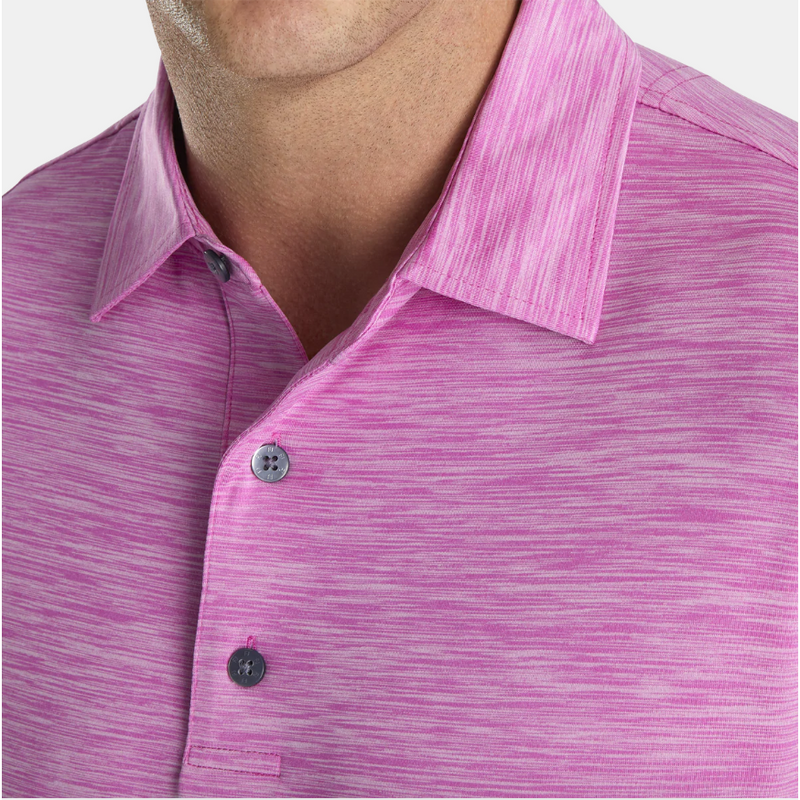 FJ Lisle Space Dyed Self Collar - Iced Berry