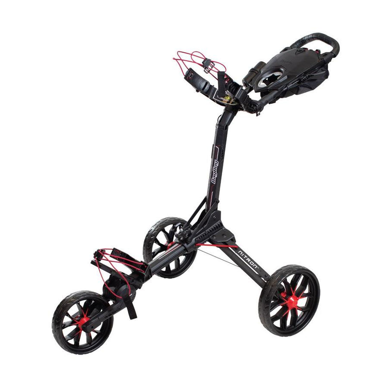 BagBoy Nitron Auto-Open Push Cart ~ Black / Red