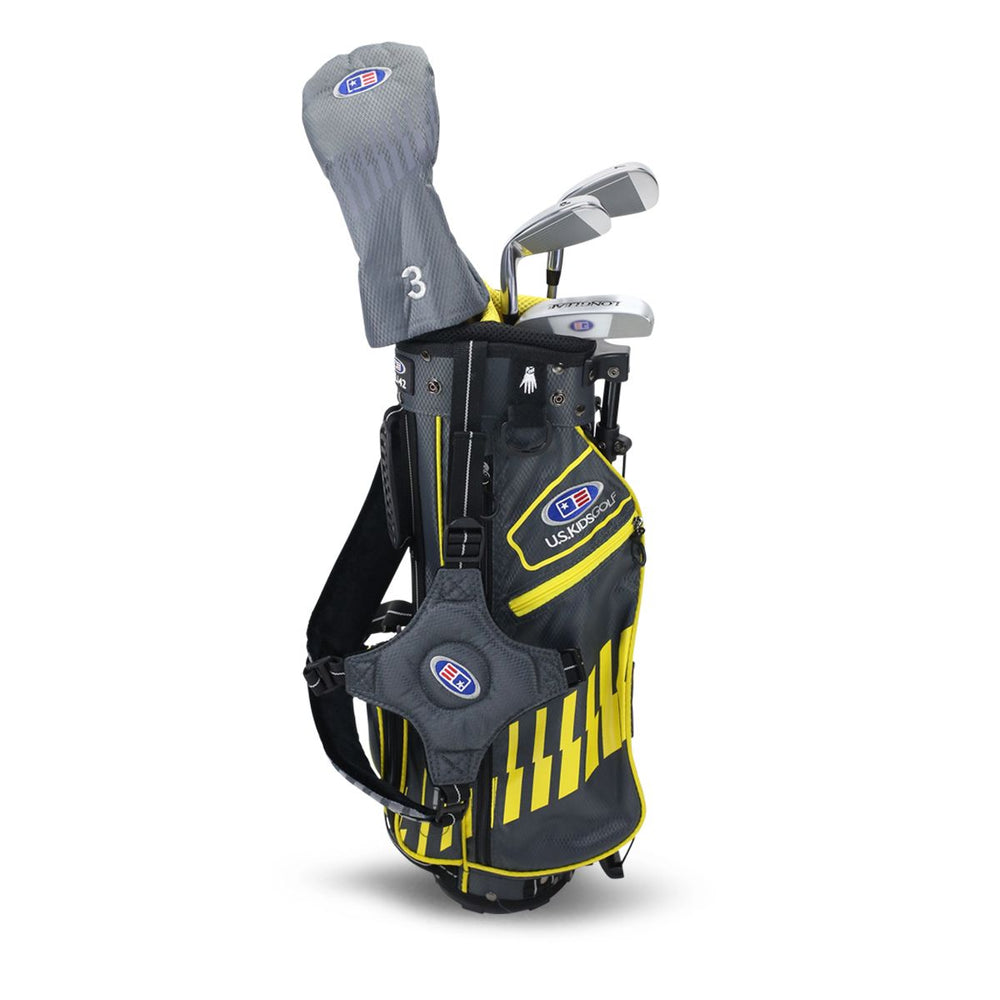 U.S. Kids UL42-s 4 Club Stand Set ~ Grey/Yellow Bag