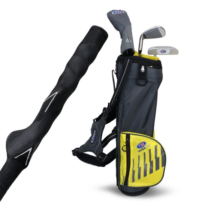 U.S. Kids UL42-s 3 Club Training Club Carry Set ~ Grey/Yellow Bag