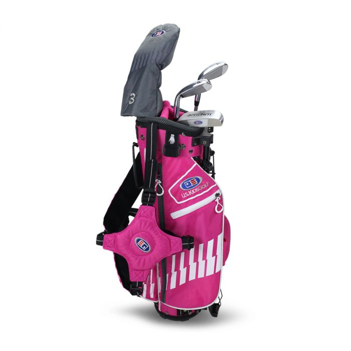 U.S. Kids UL42-s 4 Club Stand Set, Pink/White Bag