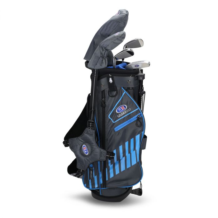 U.S. Kids UL48-s 5 Club Stand Set ~ Grey/Teal Bag