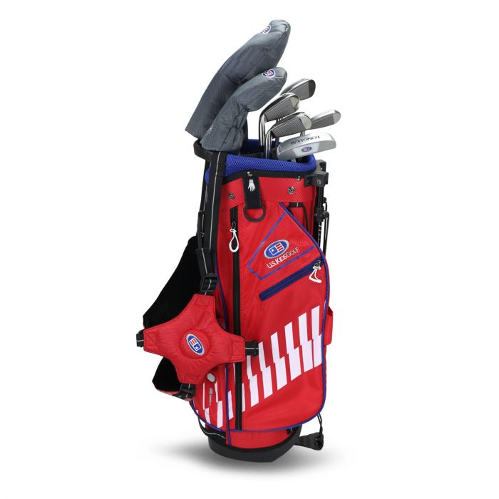 U.S. Kids UL48-s 7 Club DV3 Stand Set ~ Red/White/Blue Bag