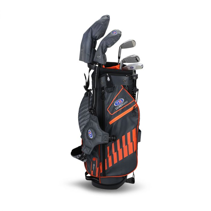 U.S. Kids UL51-s 5 Club Stand Set ~ Grey Orange Bag