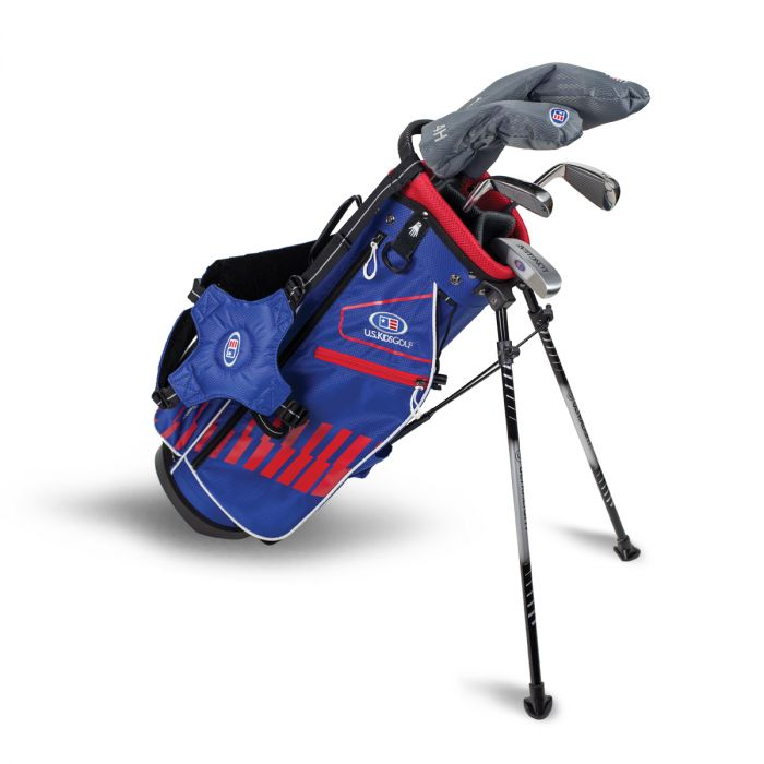 U.S. Kids UL51-s 5 Club Stand Set ~ Blue/Red/White Bag