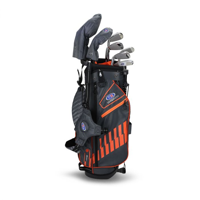 U.S. Kids UL51-s 7 Club DV3 Stand Set ~ Grey/Orange Bag