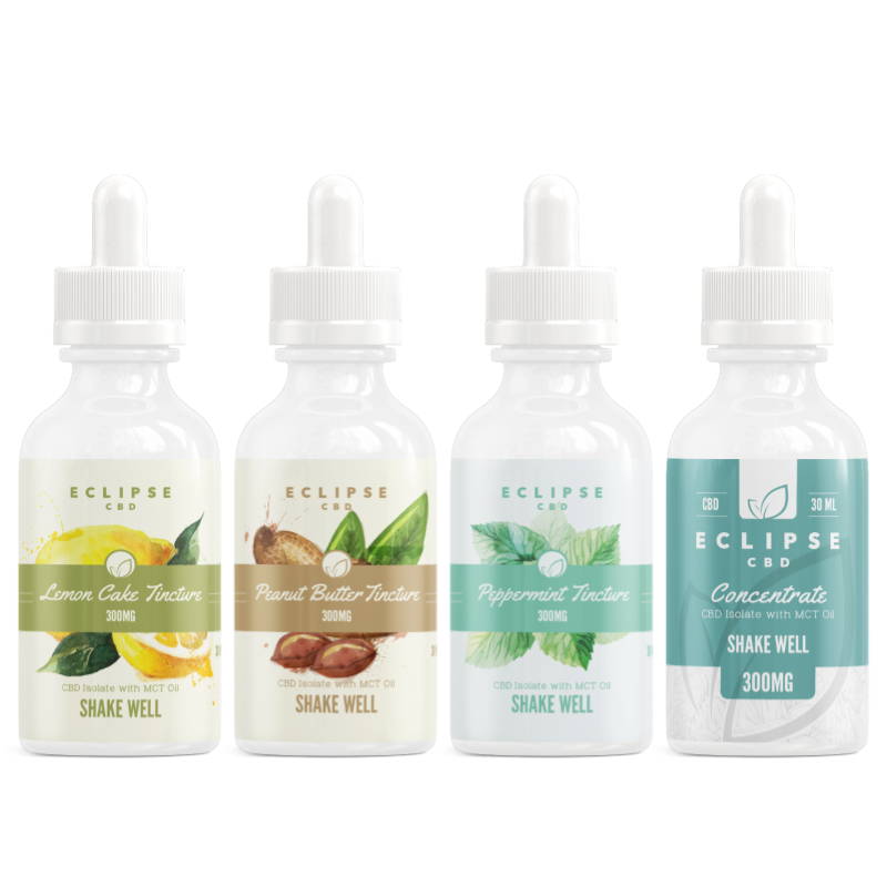 Flavored CBD Isolate Tinctures with MCT Oil