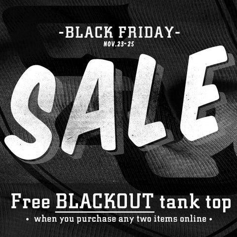 black friday sale at steel clothing