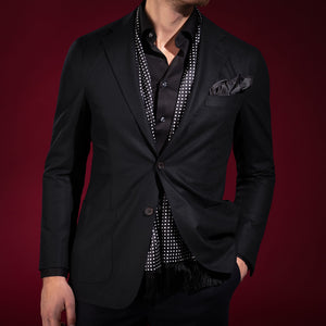 Black Twill Shirt Super Slim Fit
