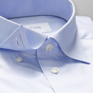 Light Blue Button-Under Twill Shirt Contemporary Fit