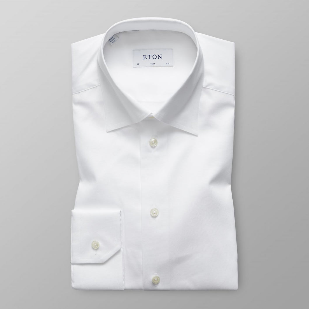 White Button-Under Twill  Shirt Contemporary Fit