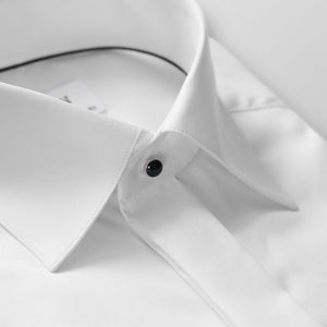 White Twill Evening Shirt Slim Fit