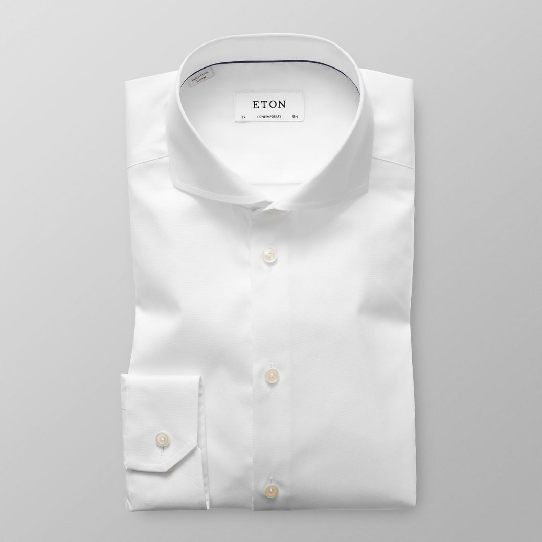 White Extreme Cut Away Shirt Contemporary Fit