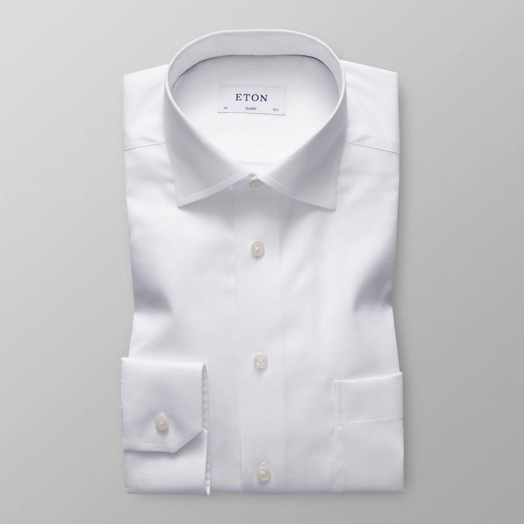 White Twill Shirt Classic Fit