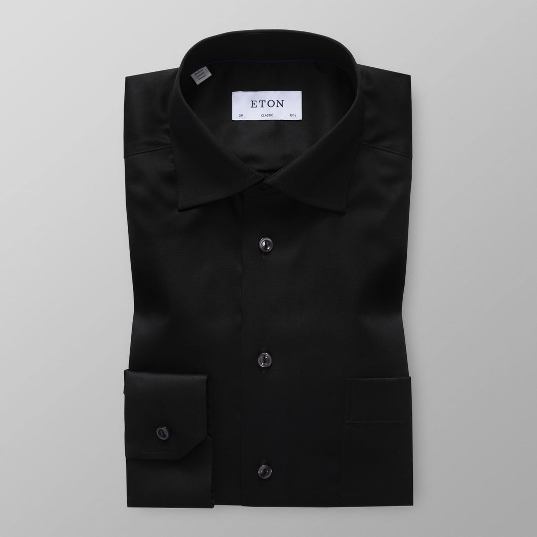 Black Twill Shirt Classic Fit