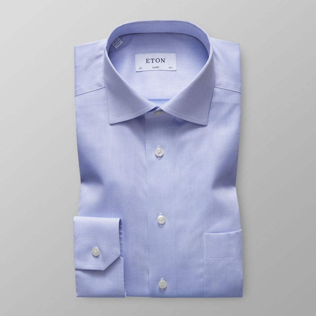 Light Blue Twill Shirt Classic Fit