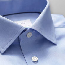 Load image into Gallery viewer, Blue Twill Shirt Classic Fit