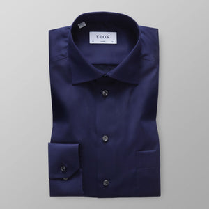 Navy Twill Shirt Classic Fit