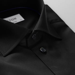 Black Twill Shirt Contemporary Fit