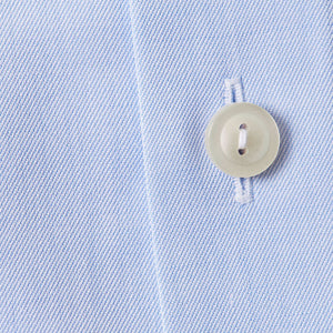 French Cuff Light Blue Twill Shirt Slim Fit