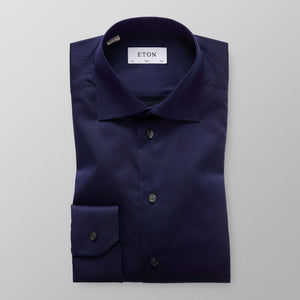 Navy Twill Shirt Contemporary Fit