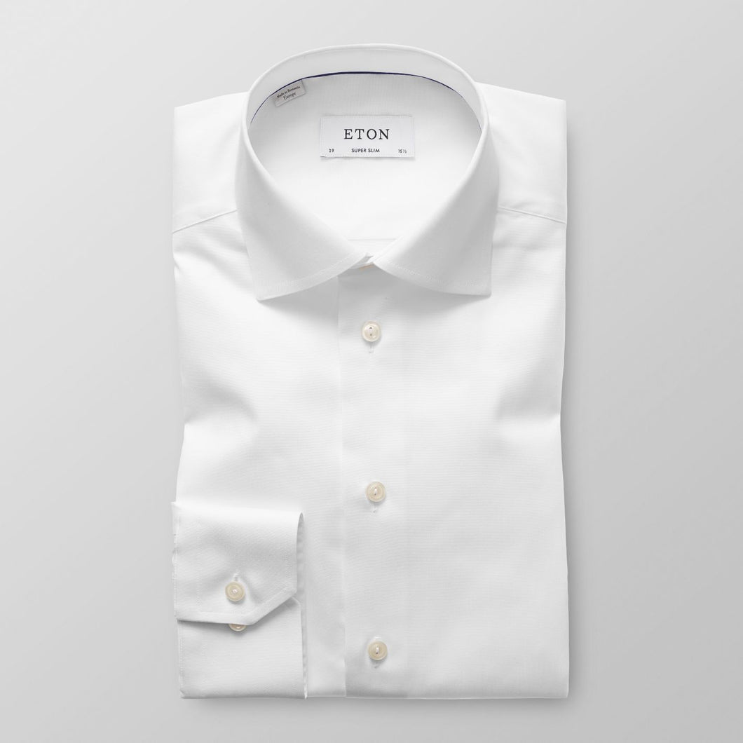 XLS White Twill Shirt Contemporary Fit