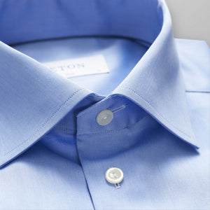 Blue Twill Shirt Contemporary Fit