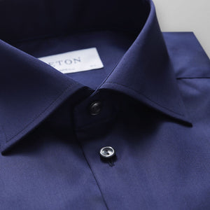 Navy Twill Shirt Slim Fit
